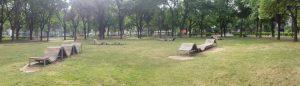 Haydnpark Bänke früher