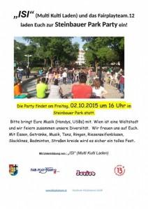 Steinbauer Park Fest 02.10.2015 Einladung