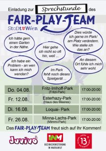 Sprechstunde Flyer August