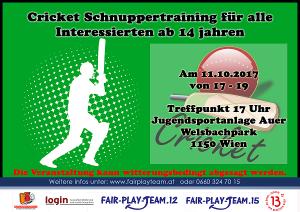 Flyer für Cricket 11.10.2017 klein